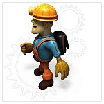 Cartoon Workman