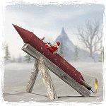 Santas Rocket - Poser